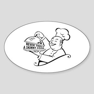 Skinny Cook Oval Sticker