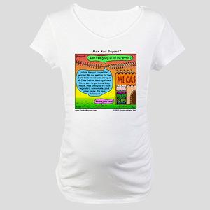 Early Birds Cartoon Maternity T-Shirt