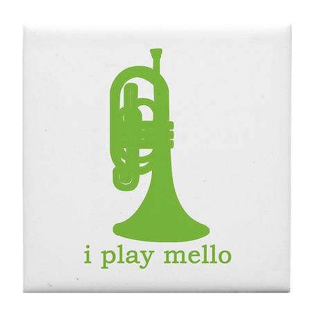 I Play Mello Tile Coaster