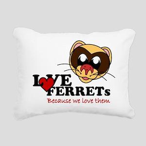 Love Ferrets Beach Tote Rectangular Canvas Pillow