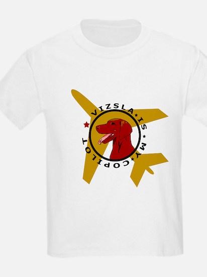 Vizsla Copilot w/plane T-Shirt