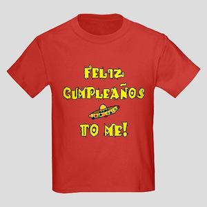 Feliz Cumpleanos Kids Dark T-Shirt