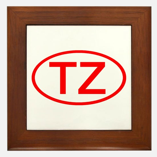 TZ Oval (Red) Framed Tile