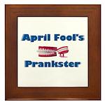 April Fool's Prankster Framed Tile