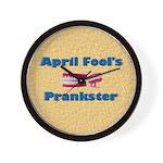 April Fool's Prankster Wall Clock