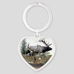 Hunt and Fish Heart Keychain
