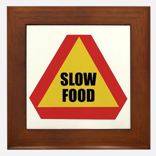 Slow Food Framed Tile