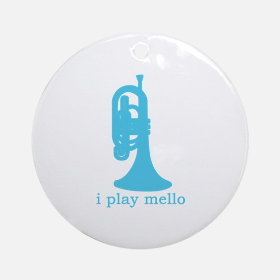 I Play Mello Ornament (Round)