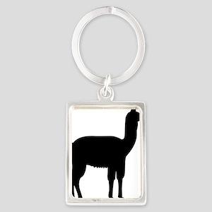 Llama Portrait Keychain