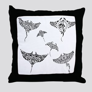 manta rays Throw Pillow