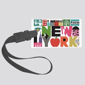 Unique New York - Block by Block Large Luggage Tag
