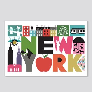 Unique New York - Block b Postcards (Package of 8)