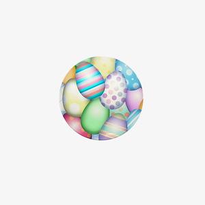 Decorated Eggs Mini Button