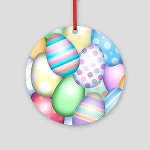 Decorated Eggs Round Ornament