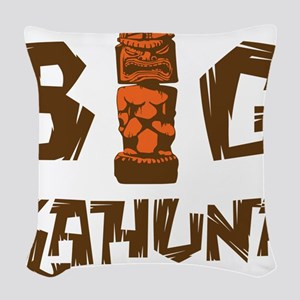 BIG KAHUNA - WOOD Woven Throw Pillow