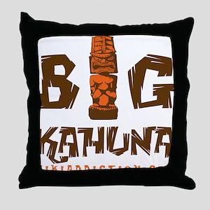 BIG KAHUNA - WOOD Throw Pillow