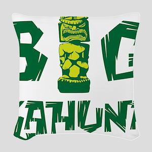BIG KAHUNA - GREEN Woven Throw Pillow