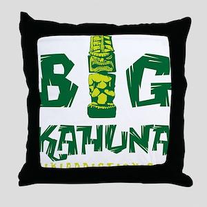 BIG KAHUNA - GREEN Throw Pillow