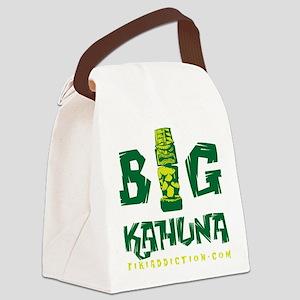 BIG KAHUNA - GREEN Canvas Lunch Bag