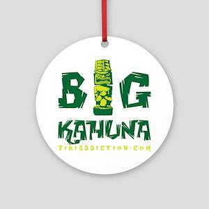 BIG KAHUNA - GREEN Round Ornament