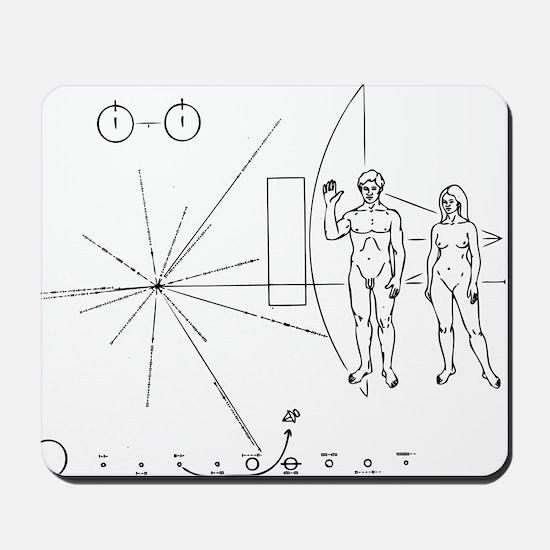 Pioneer Plaque Black Mousepad