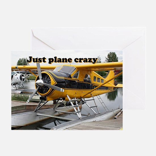 Just plane crazy: Beaver float plane Greeting Card