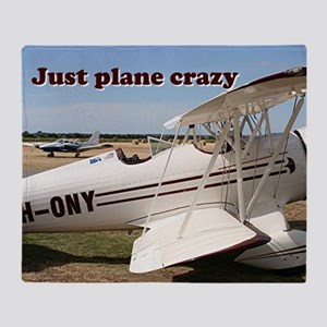 Just plane crazy: Waco aircraft Throw Blanket