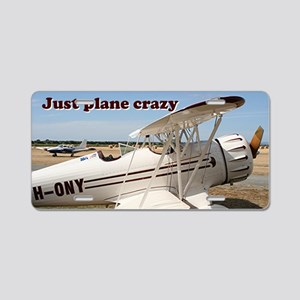 Just plane crazy: Waco airc Aluminum License Plate