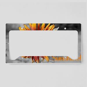Bring Me Sunshine - sunflower License Plate Holder
