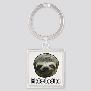 The Sloth Square Keychain