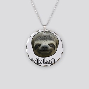 The Sloth Necklace Circle Charm