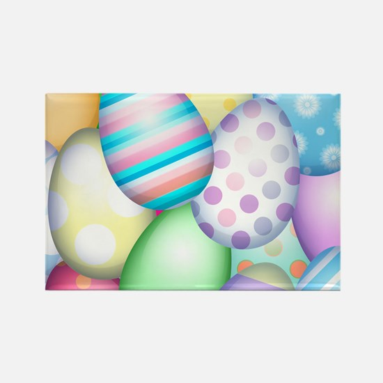 Decorated Eggs Rectangle Magnet