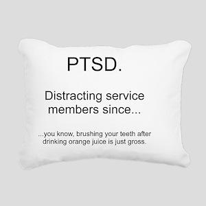 PTSD - Orange juice and  Rectangular Canvas Pillow
