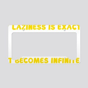 lazinessNumber1D License Plate Holder