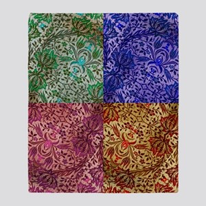 Color Paisley Designs Throw Blanket