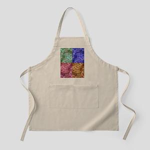 Color Paisley Designs Apron