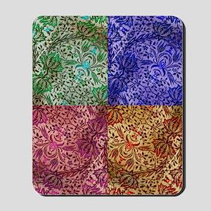 Color Paisley Designs Mousepad