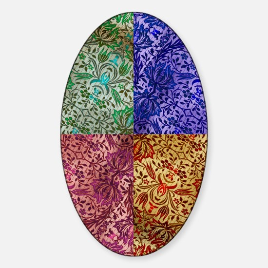 Color Paisley Designs Sticker (Oval)