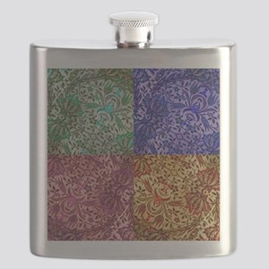 Color Paisley Designs Flask