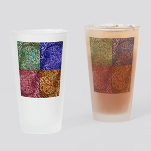 Color Paisley Designs Drinking Glass