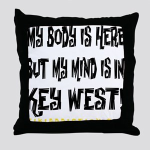 IN KEY WEST - WHITE Throw Pillow