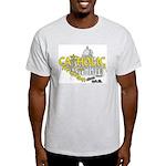 Catholic and Christian (Gold) Ash Grey T-Shirt