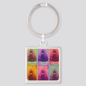 Florence Nightingale Colors 1a Square Keychain