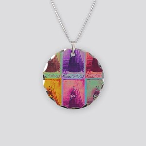Florence Nightingale Colors  Necklace Circle Charm