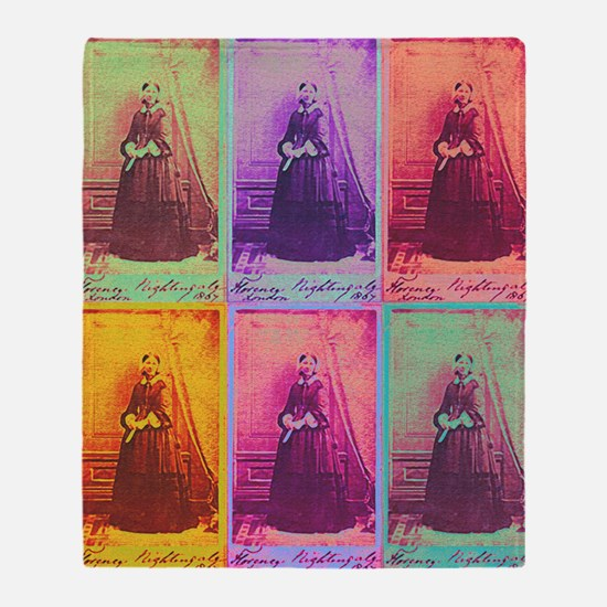 Florence Nightingale Colors 1a Throw Blanket