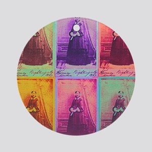 Florence Nightingale Colors 1a Round Ornament