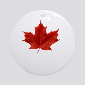 A Proud Canadian Round Ornament