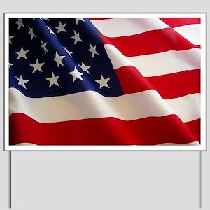 American Flag Yard Sign