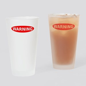 May Contain Wine Warning Drinking Glass