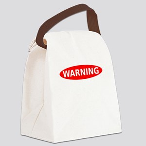 May Contain Wine Warning Canvas Lunch Bag